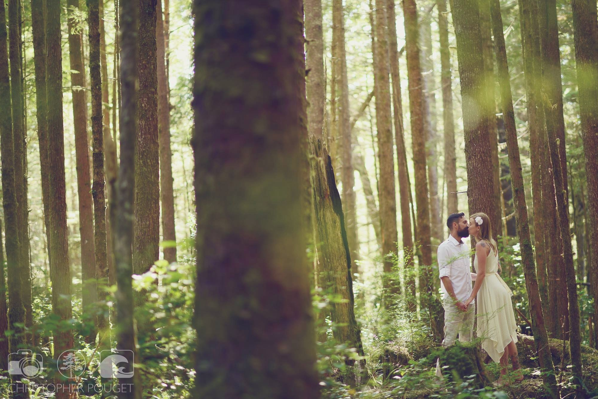 Chris Pouget Photography_Forest Bride and Groom