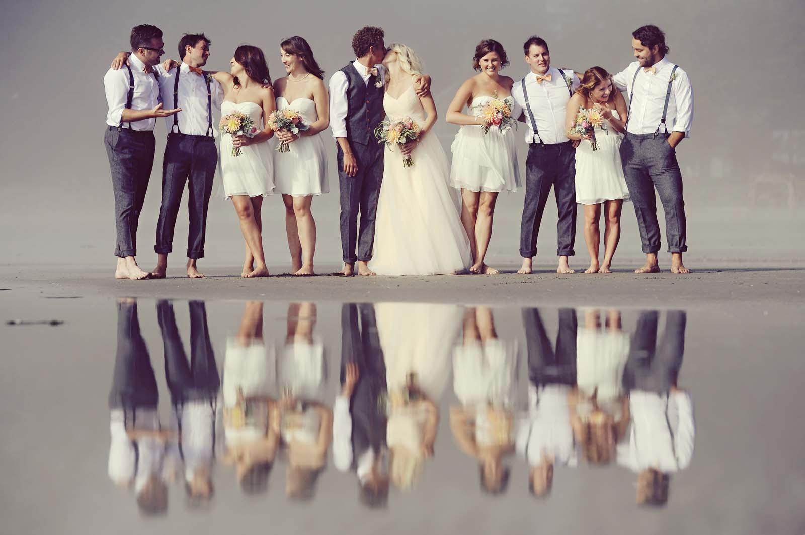 Erin Wallis Photography_Beach Wedding Party