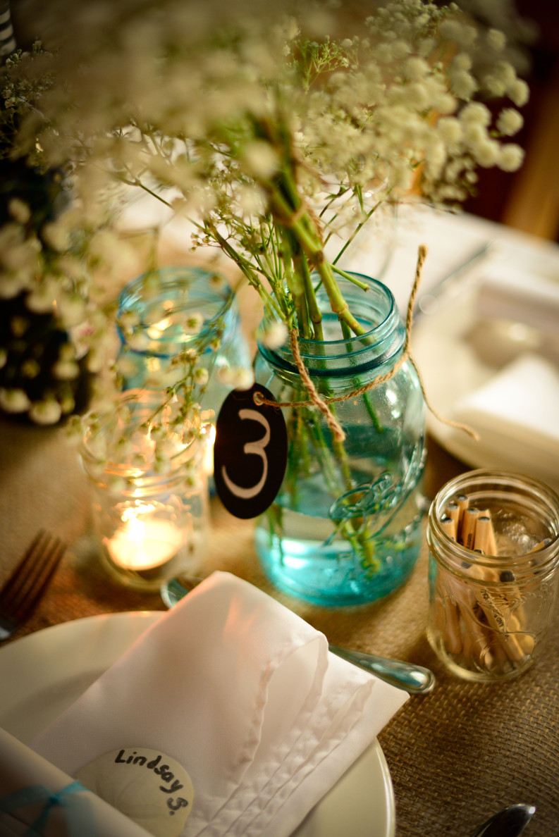 Colourful Mason Jars