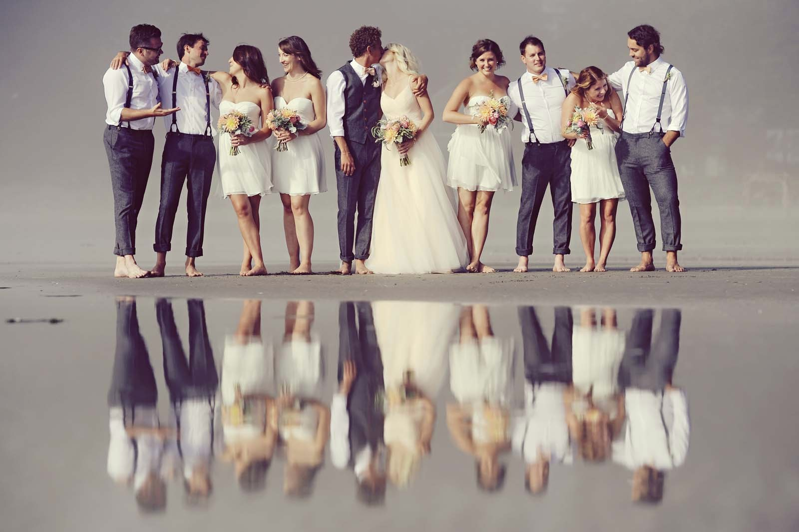 Erin Wallis Photography_Beach Wedding Party